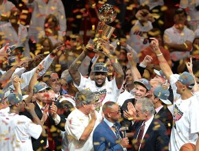 NBA Finals MVP LeBron James of the Miami