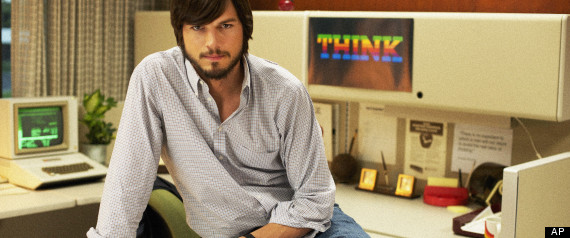 ashton kutcher s leading role as steve jobs in the biopic jobs which