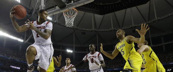 NCAA Final Four Michigan Louisville Basketball